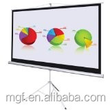 High quality strong Tripod standing projector Screen with flat surface