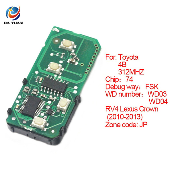 AK007062 key board with 314.3MHZ for Toyota 4 button