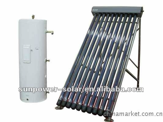 U pipe pressurized solar water heater calorifier high efficiency solar collector split system 2011 hot products SABS SK CE SRCC