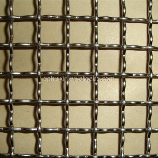 0.71mm low carbon steel wire of Q195 with 12 mesh of 1m width crimped mine sieving wire mesh