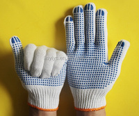 [Gold Supplier] HOT ! 55g Pvc Dotted Gloves