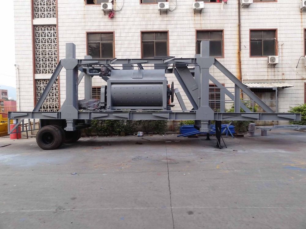 YHZS-90 mobile concrete batching plant seller (90m3/h)