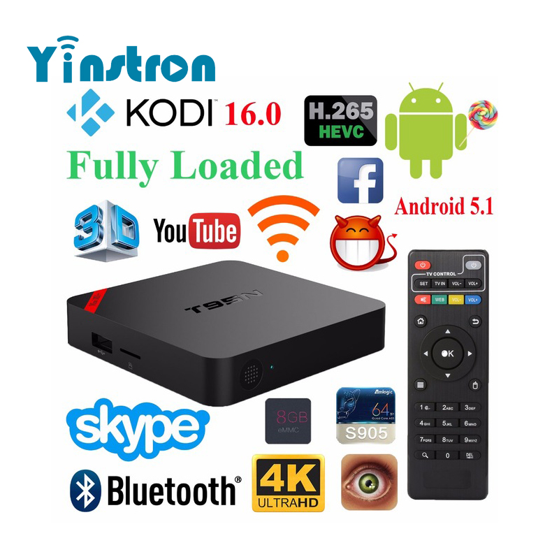 T95N-Mini MX+ S905 quad-core 1GB 8GB emmc Bluetooth smart android 5.1 tv box