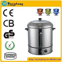 Hotel used electric 30L~40L stainless steel for star hotel sweet corn steamer with removable base