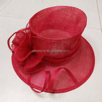 New Design Woman church hats for party and wedding wholesale sinamay fascinator hats