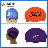 100%Silicone material adult funny swim cap in china