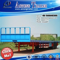 Carbon Steel 2-3 Axles flatbed Container Semi Trailer/Log Loader Trailer