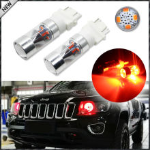 High Power Brilliant Red 12-SMD-2835 3157 3357 3457 4357 LED Bulbs For 2011 & up Jeep Grand Cherokee Daytime Running Lights