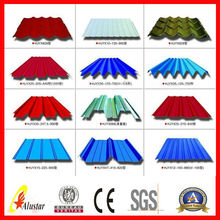 red color metal roof tile for roofing material