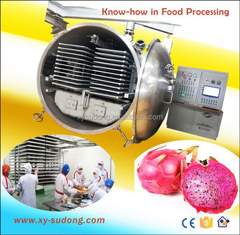 Commercial vacuum freeze drying equipment for dragon fruit