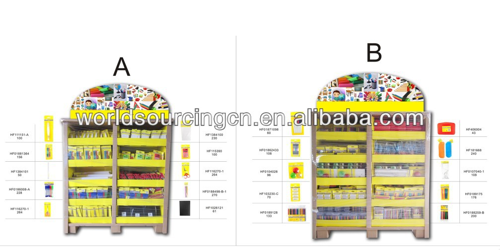 Stationery products promotional pallet