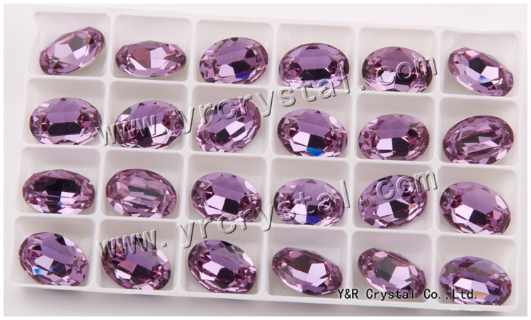 4120 13*18 violet colour rhinestone chatons crystal Fancy stone Used in full dress Jewelry Making
