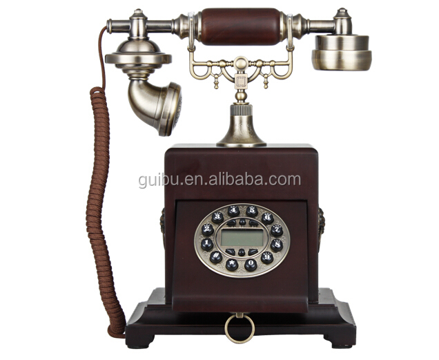 2015 China Corded Analog Vintage Wooden Telephone