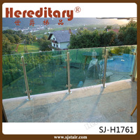 outdoor tempered glass banisters and railings for balcony