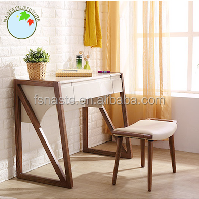 The latest design make up dresser with mirror chair and table drawers Na39