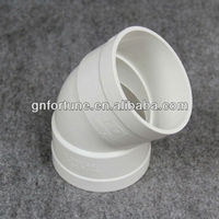 PVC Pipe Fittings PVC UPVC Elbow 45 Degree