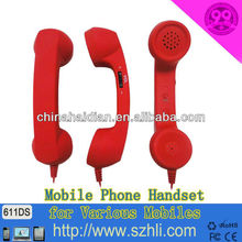Smaller Type Radiation Reduction Rubber Paint handset, Mobile Phone Handset 611D Cell phone Receiver for COCO Phone