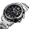 Wholesale SKONE men's Japan sr626sw quartz stainless steel watch water resistant