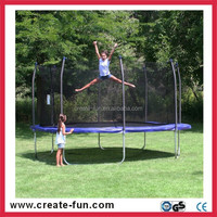 CreateFun factory wholesale 12ft baby toys big trampoline with UV resistant jumping mat
