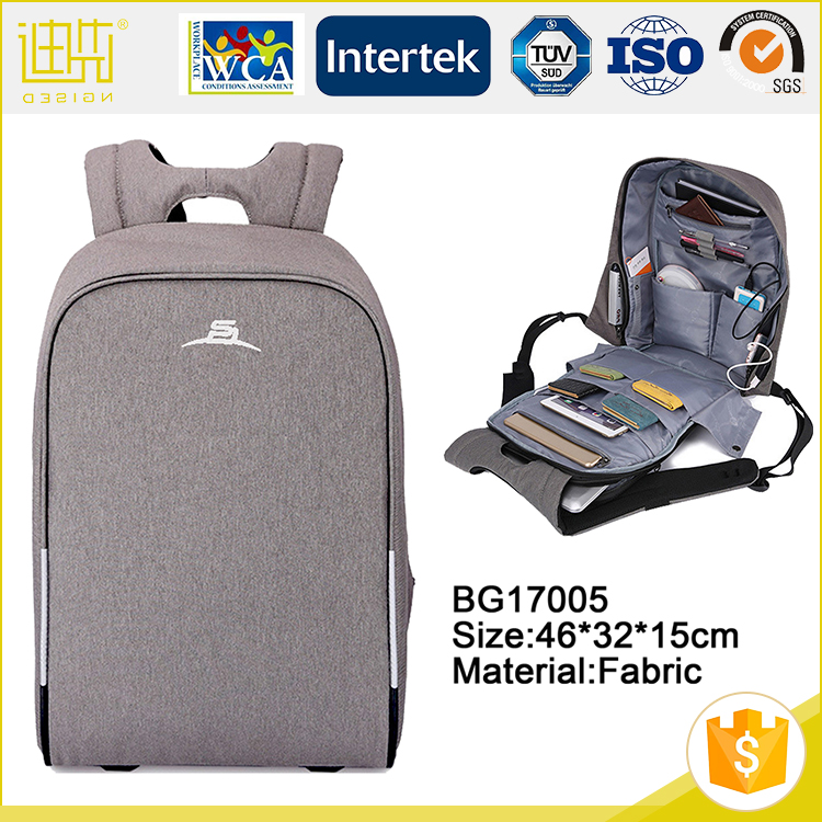 Anti theft custom fabric laptop bags advertisement computer backpack with printing logo