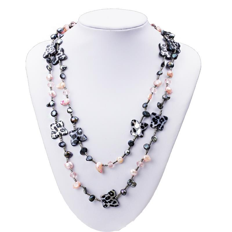 SCI051 5-6mm butterfly natural pearl necklace style