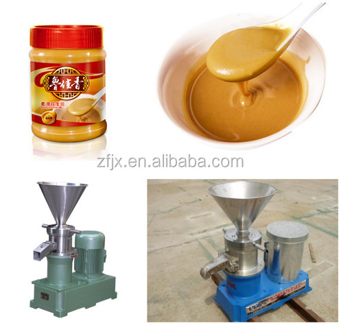 Commercial chili peanut butter colloid mill sauce paste tahini making machine