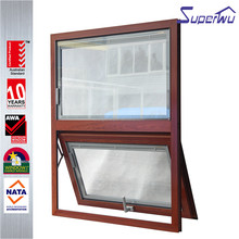 New Design wooden grain color Customized Top Quality Fixed Panel awning window