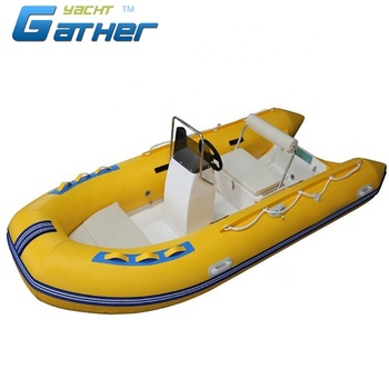 Gather 2019 most popular High Quality 390cm 5person inflatable rubber boat rib390B
