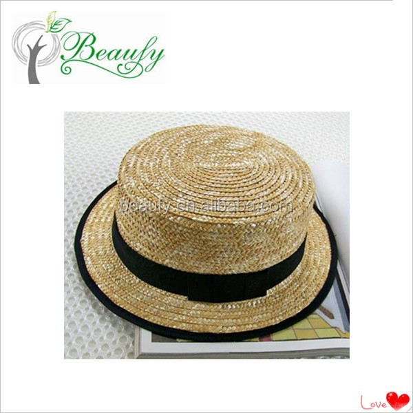 Shandong Qingdao Maize Wheat Straw Boater Hat