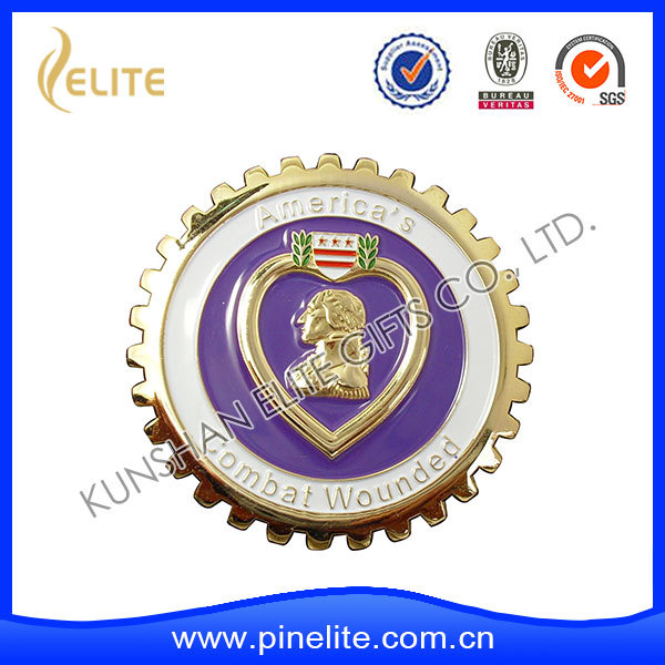 Metal auto emblem with custom logo Removable 3M adhesive