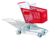 different sizes cheap plastic basket shopping trolley
