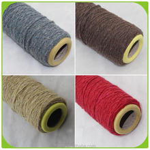 Ne 5s China manufacturer open end recycled linen cotton yarn dyed