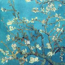 Hand Painted Van Gogh Almond Blossom Impression Oil Artworks Famous Painting Reproduction for house decoration