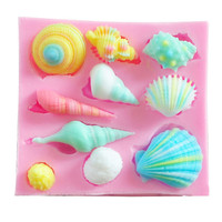 Popular Cute Product Kitchen Bakeware Shell Shape Cake Decorating Cake Maker Mold Silicone