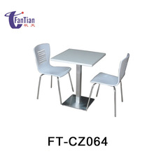 Wholesale Cheap wooden exotic restaurant dining table with attached chairs