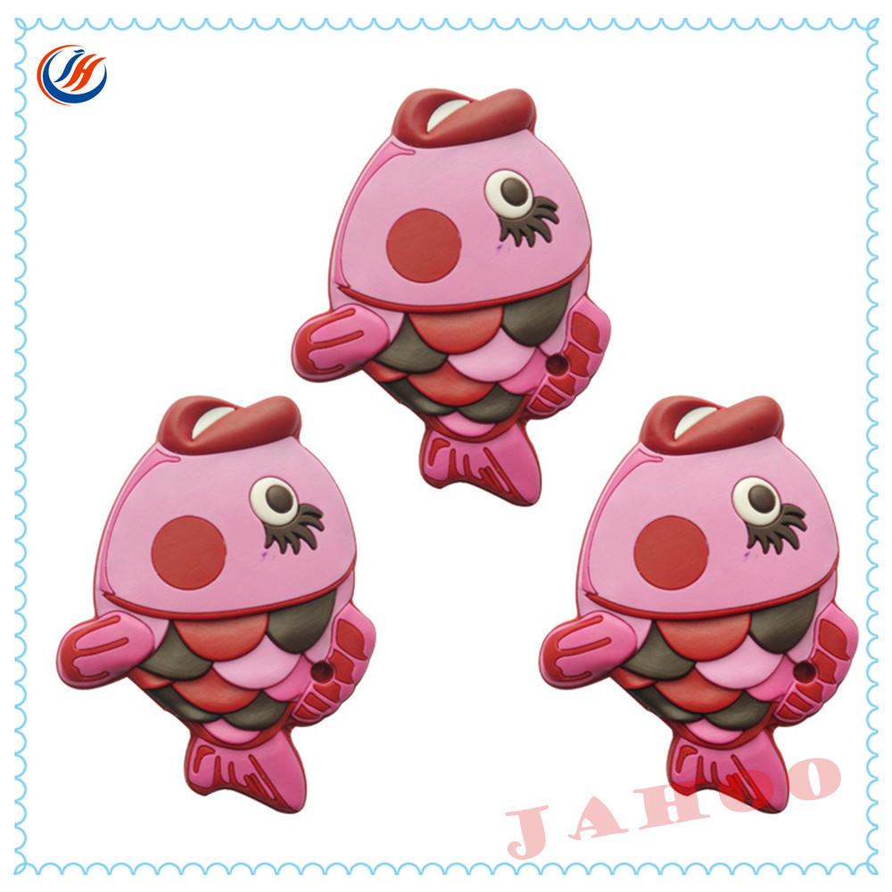 Good Selling Soft Cartoon Character Garment 3D PVC Silicone Rubber Label