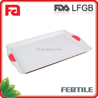 WPL FA-Q009CS 13'' Cookie Sheet with Silicone Handle Carbon Steel baking pan
