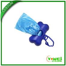 customized Clean up refills Dog Pet Waste Poop Bags with blue color dispenser
