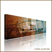 Handpainted hot sale frameless modern abstract oil painting for wall decor