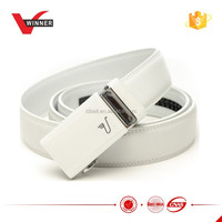 High quality automatic white men belts