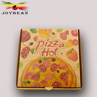 promotional biodegradable wholesale customized flexo printed pizza box/red and green pizza packing carton box