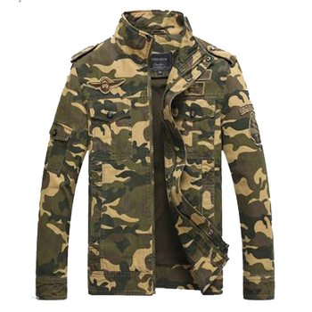 2020 Latest Design High Quality Camouflage Army Green Long Sleeve Jacket Men