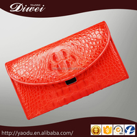 new designer genuine leather ladies wallet for party clutch purse