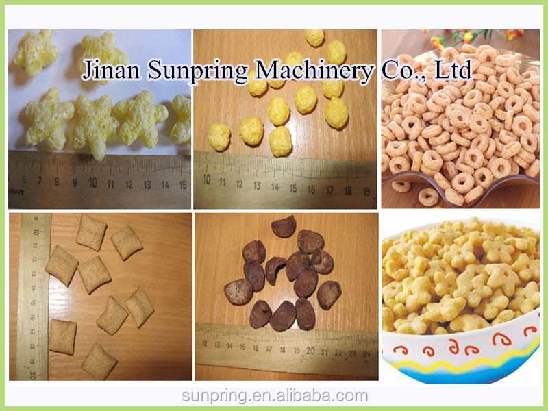 Flavored Corn Rice Cheese Ball Puff Snack Food Making Machine