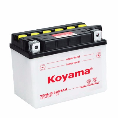on sale dry charge motorcyle battery YB4L-B without acid bottle 12V4Ah