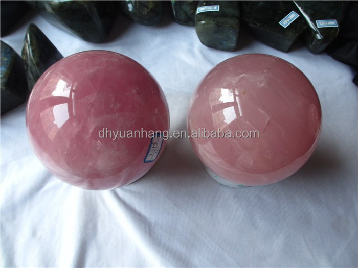 High polished large natuarl rose quartz crystal balls for sale exquisite crystal balls rose quartz crystal spheres