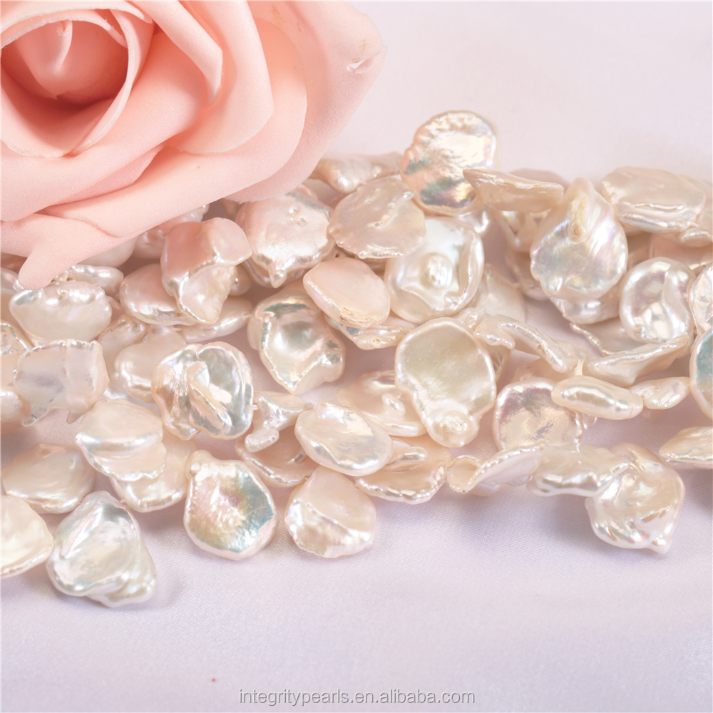 Freshwater pearl 12-13mm large big size natural keshi pearl strands