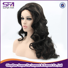 High quality synthetic hair front lace wig for white women