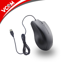 2017 Vcom 1200 dpi cheap price about 1 dollar fashionable black custom 3d usb wired computer mouse