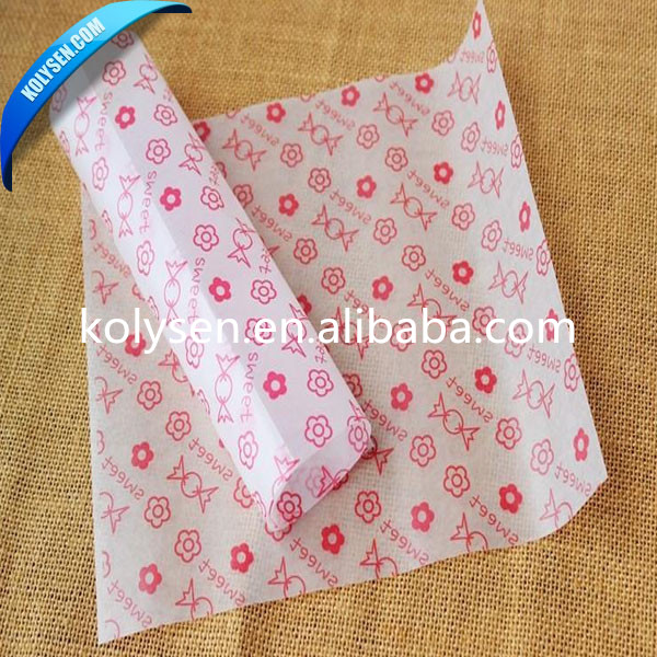 2015 Color Wax Printing Nice Candy Wrapping Waterproof paper